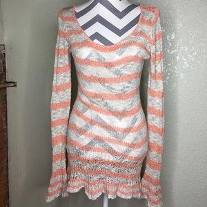 Free People Striped Sweater Size XS Knit